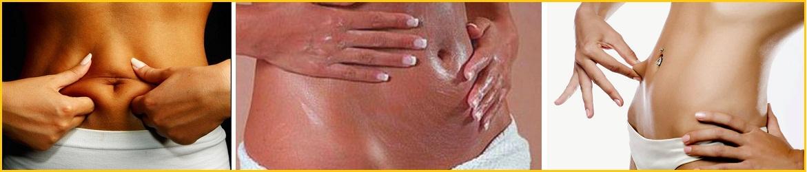 массаж для похудения в области живота