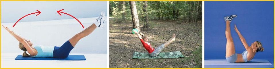 подъем ног и рук для похудения в области живота